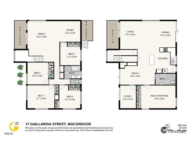 17 Gaillardia st, Macgregor QLD 4109 Floorplan