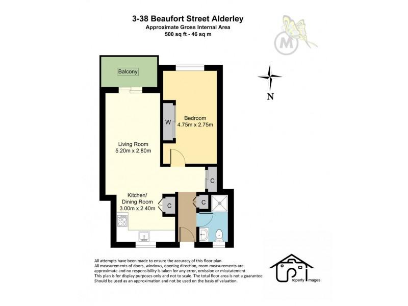 3/38 Beaufort Street, Alderley QLD 4051 Floorplan