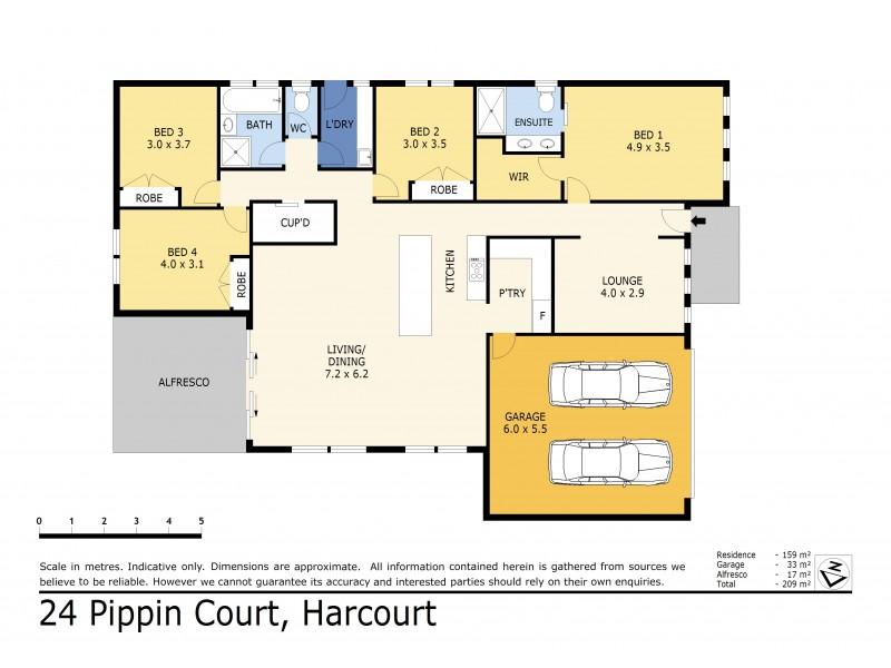 24 Pippin Court, Harcourt VIC 3453 Floorplan