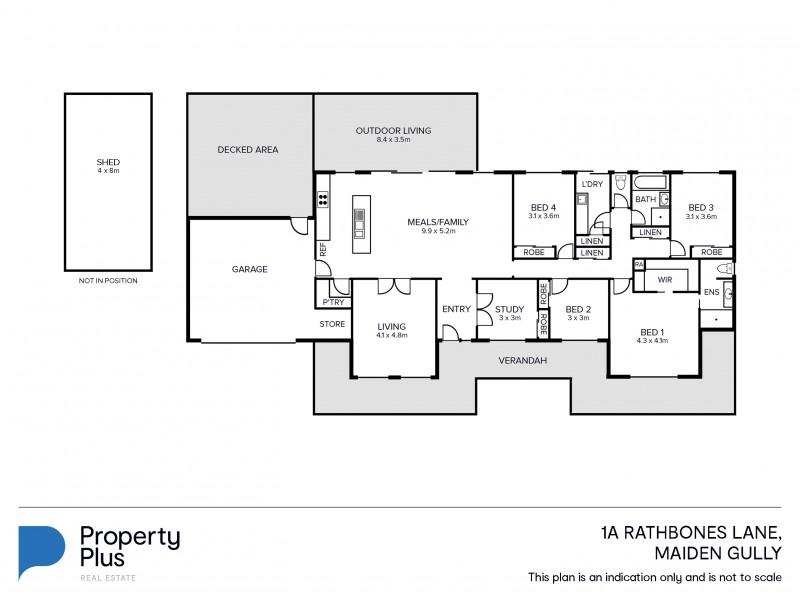 1A Rathbones Lane, Maiden Gully VIC 3551 Floorplan