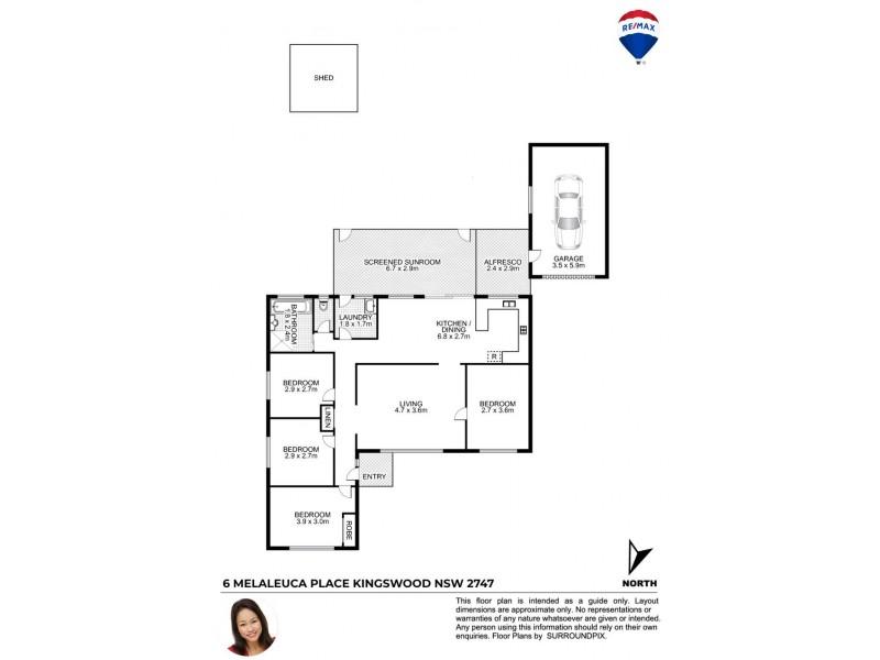 6 Melaleuca Place, Kingswood NSW 2747 Floorplan