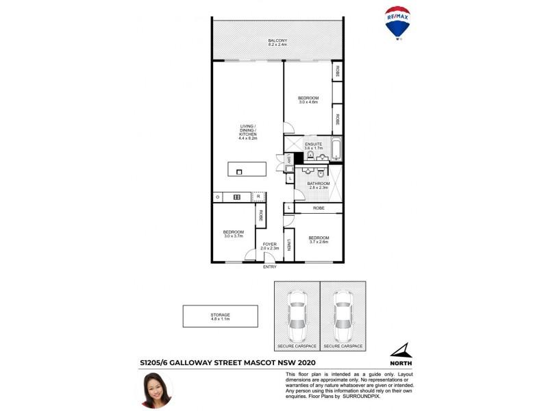 1205/6 GALLOWAY STREET, Mascot NSW 2020 Floorplan