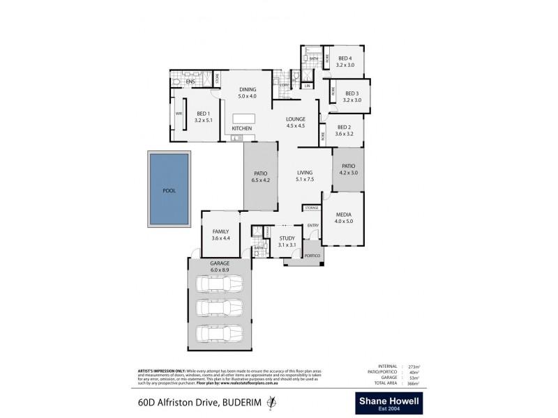 60D Alfriston Drive, Buderim QLD 4556 Floorplan
