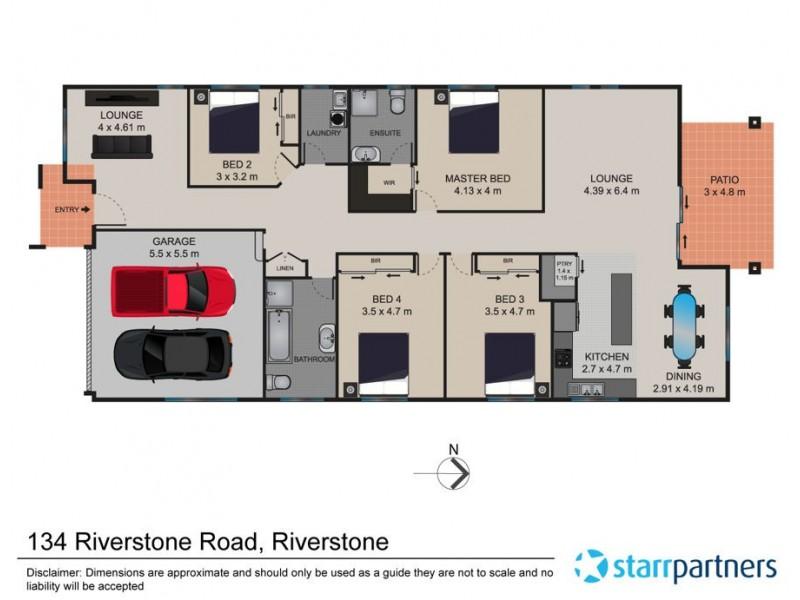 134 Riverstone Road, Riverstone NSW 2765 Floorplan