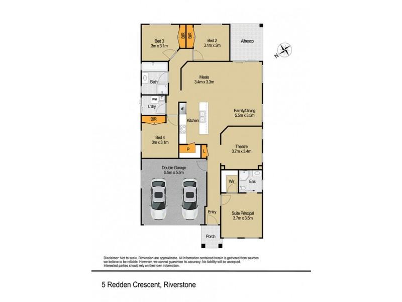 5 Redden Crescent, Riverstone NSW 2765 Floorplan