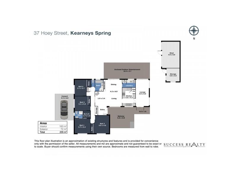 37 Hoey Street, Kearneys Spring QLD 4350 Floorplan