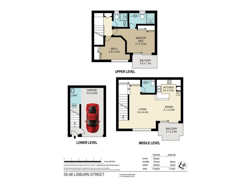 35/48 Lisburn Street, East Brisbane QLD 4169 Floorplan