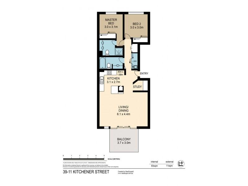 39/11 Kitchener Street, Coorparoo QLD 4151 Floorplan