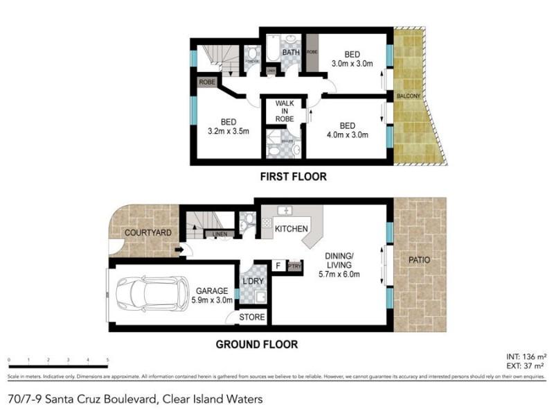 70/7 to 9 Santa Cruz Boulevard, Clear Island Waters QLD 4226 Floorplan