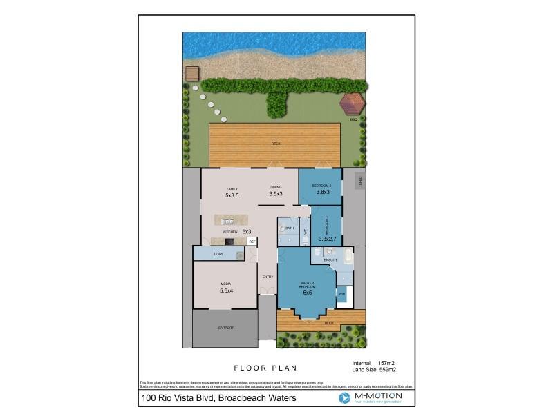 100 Rio Vista Boulevard, Broadbeach Waters QLD 4218 Floorplan