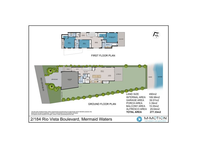 2/184 Rio Vista Boulevard, Mermaid Waters QLD 4218 Floorplan