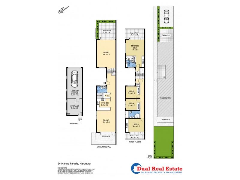 64 Marine Parade, Maroubra NSW 2035 Floorplan