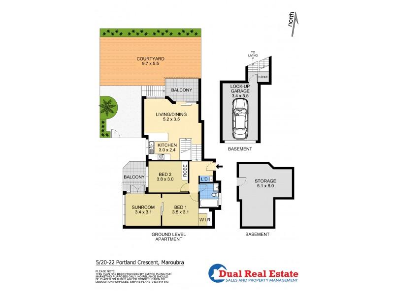 5/20-22 Portland Crescent, Maroubra NSW 2035 Floorplan