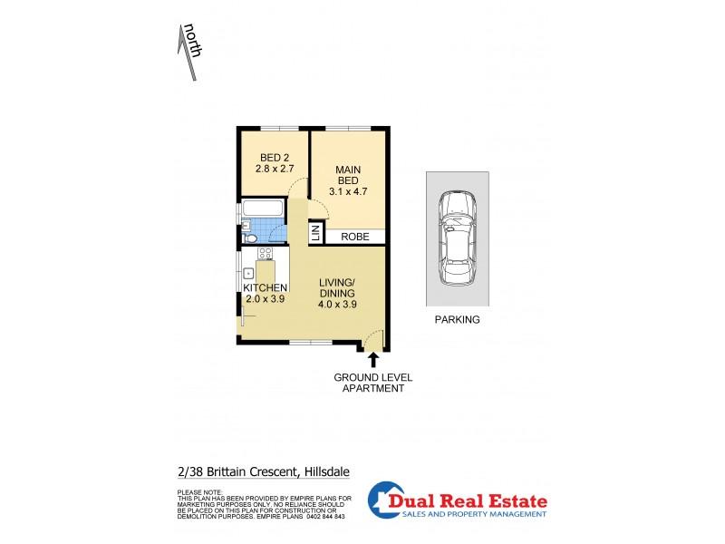 2/38 Brittain Crescent, Hillsdale NSW 2036 Floorplan