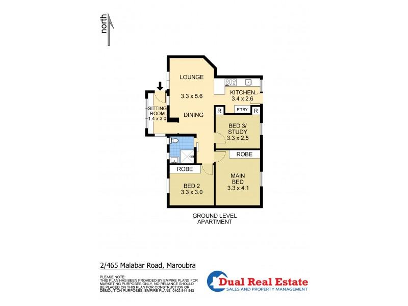 2/465 Malabar Road, Maroubra NSW 2035 Floorplan