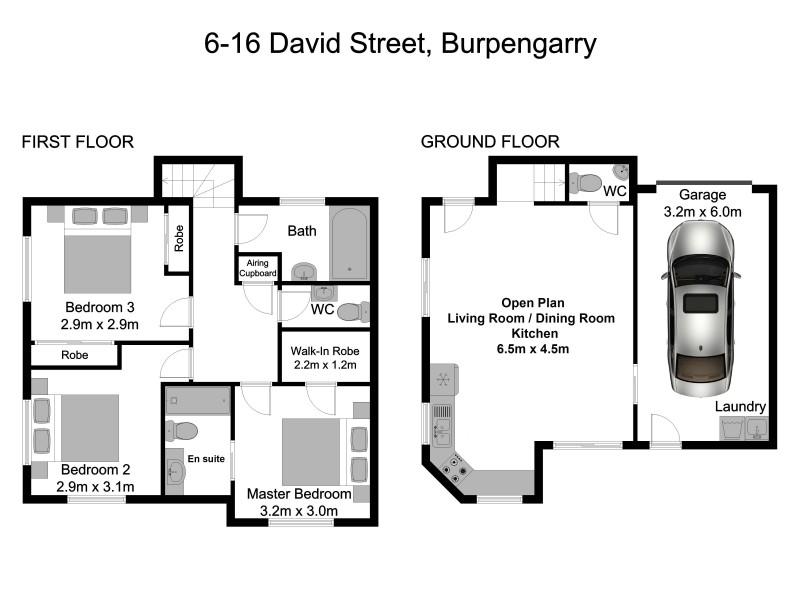 6/16 David Street, Burpengary QLD 4505 Floorplan