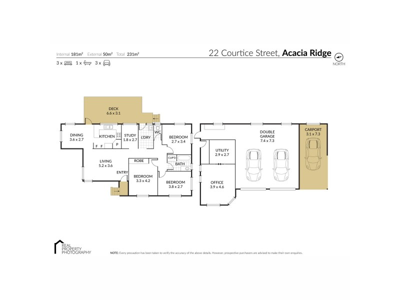 22 Courtice Street, Acacia Ridge QLD 4110 Floorplan