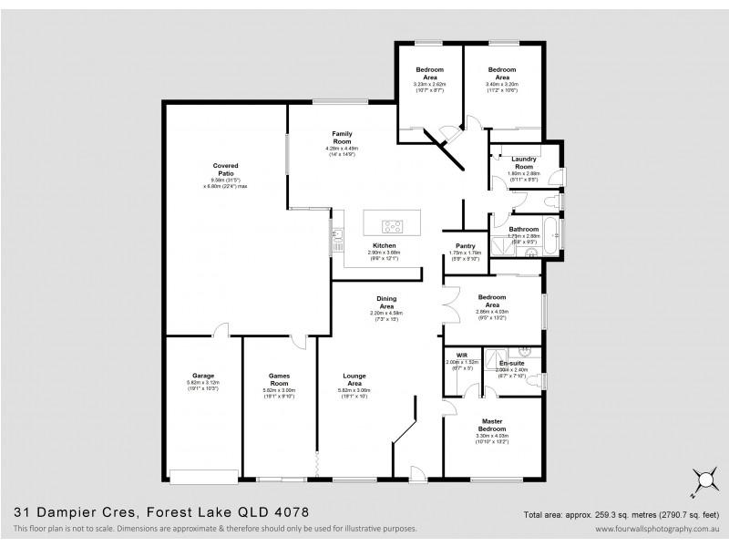31 Dampier Cr, Forest Lake QLD 4078 Floorplan