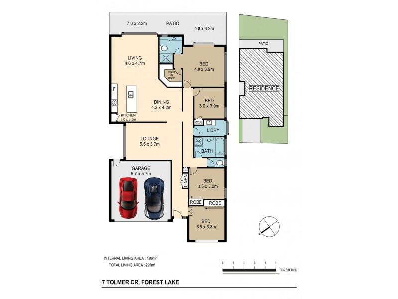 7 Tolmer Cr, Forest Lake QLD 4078 Floorplan