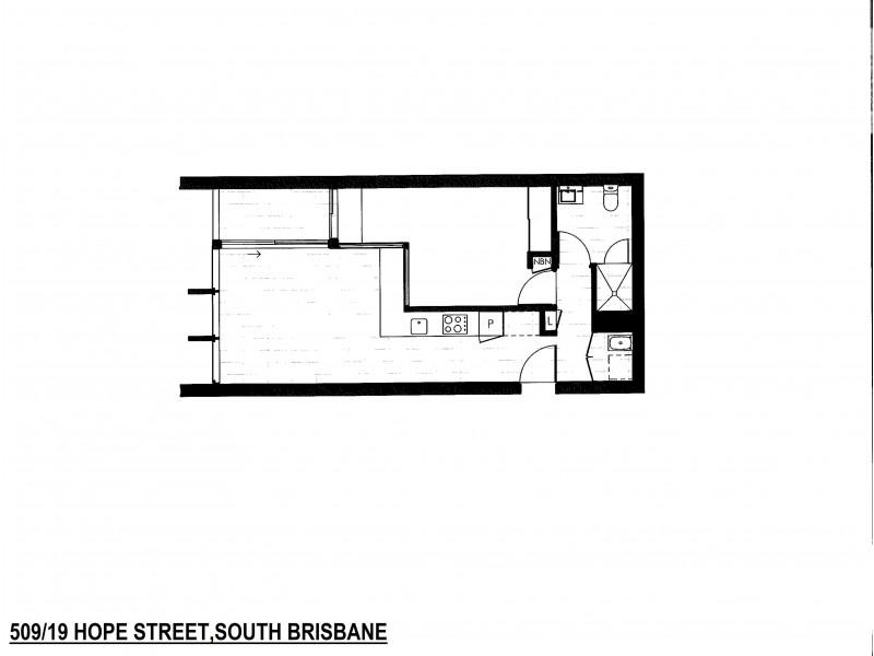 509/19 Hope Street, South Brisbane QLD 4101 Floorplan
