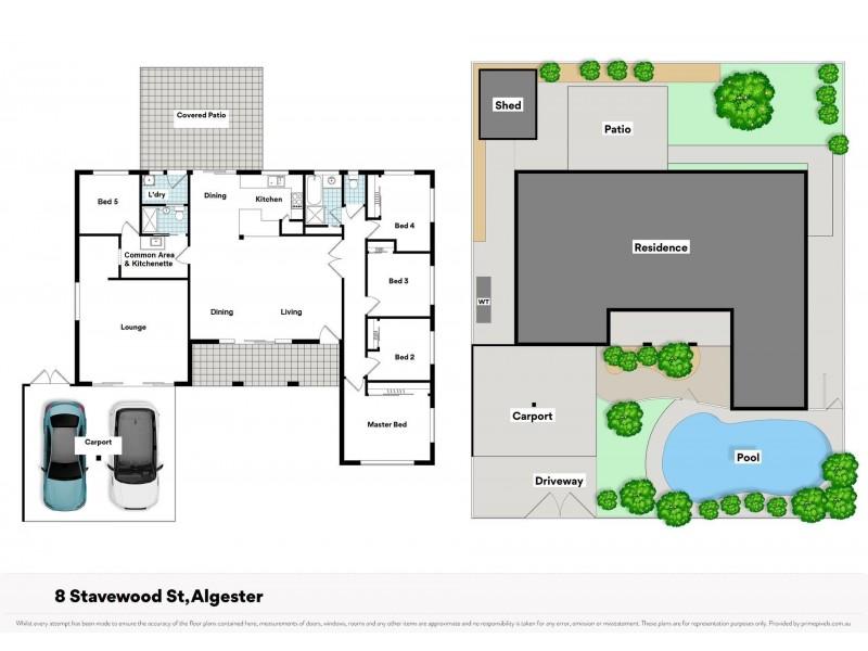 8 Stavewood Street, Algester QLD 4115 Floorplan