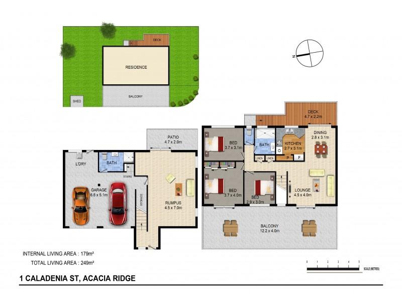 1 Caledenia St, Acacia Ridge QLD 4110 Floorplan