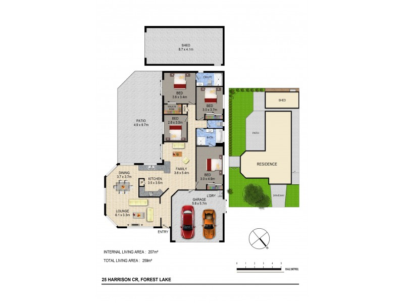 25 Harrision Cr, Forest Lake QLD 4078 Floorplan