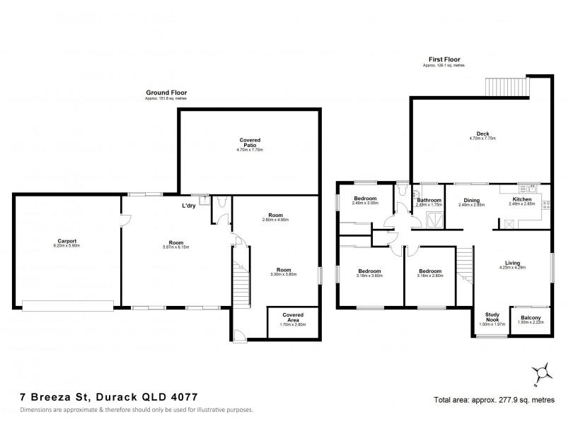 7 Breeza St, Durack QLD 4077 Floorplan