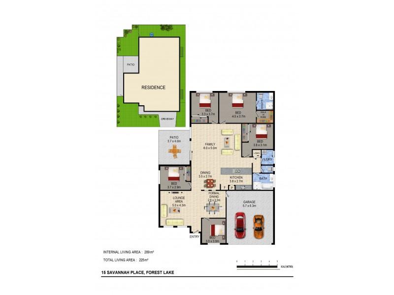 15 Savannah Pl, Forest Lake QLD 4078 Floorplan