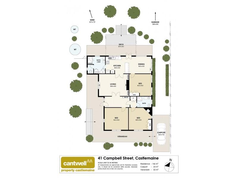 41 Campbell St, Castlemaine VIC 3450 Floorplan