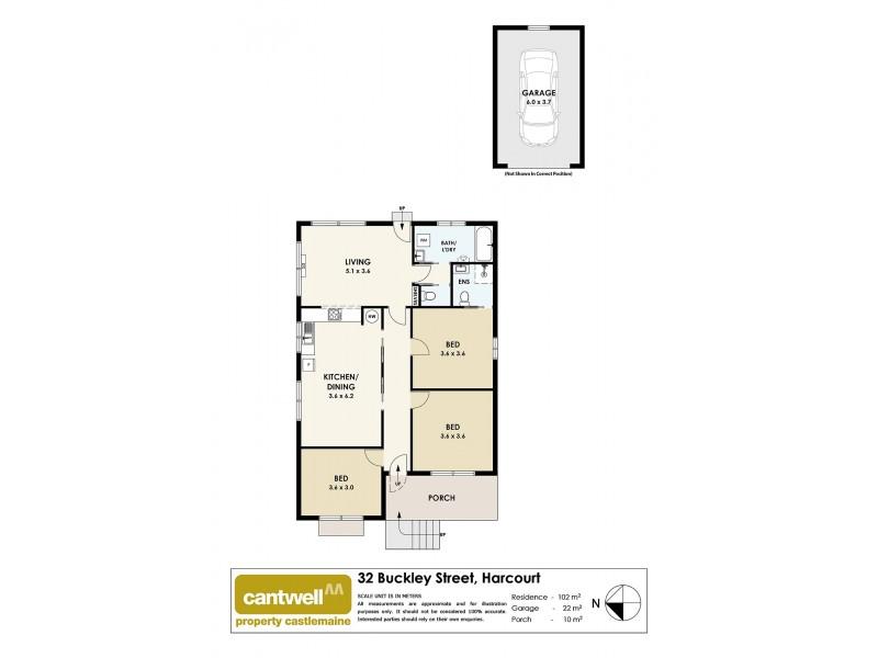 32 Buckley Street, Harcourt VIC 3453 Floorplan