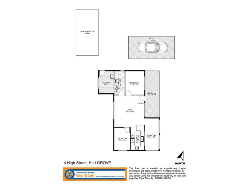 4 High Street, Hillgrove NSW 2350 Floorplan