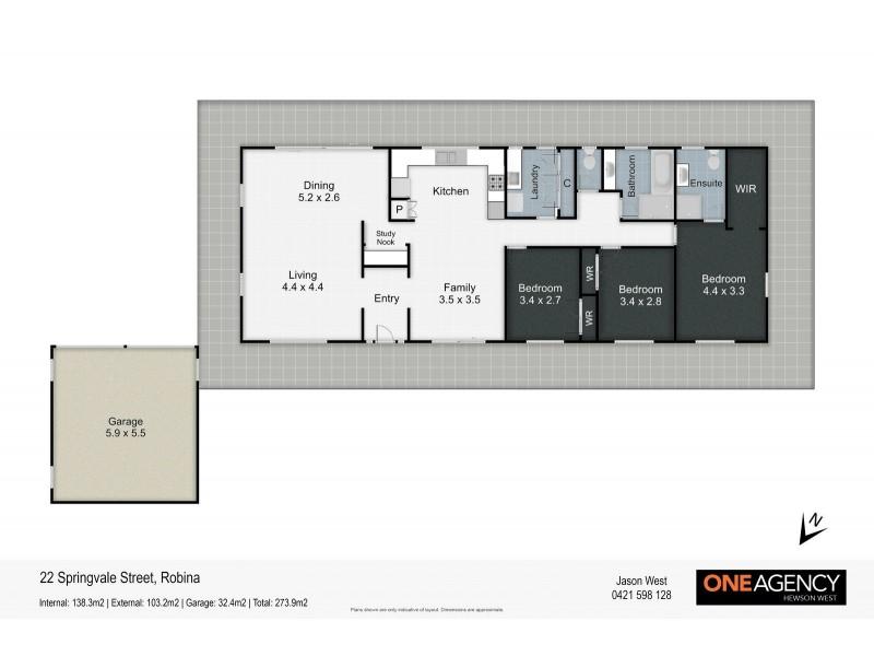 22 Springvale Street, Robina QLD 4226 Floorplan