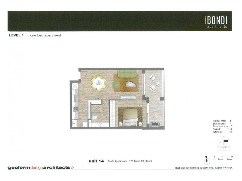 14/170 Bondi Road, Bondi NSW 2026 Floorplan