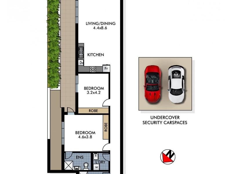 2/53 Birriga Road, Bellevue Hill NSW 2023 Floorplan