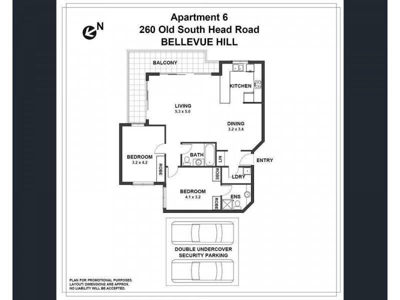 6/260 Old South Head Road, Bellevue Hill NSW 2023 Floorplan