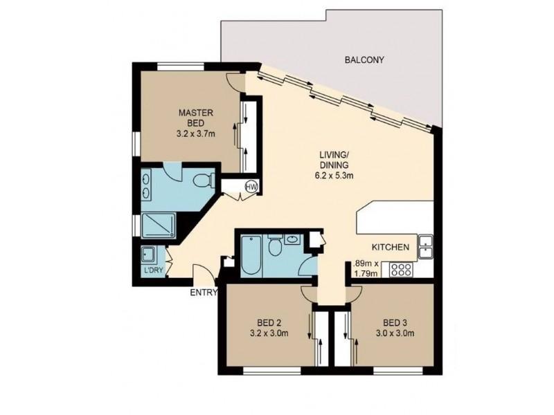 6/19 Princess Street, Bulimba QLD 4171 Floorplan