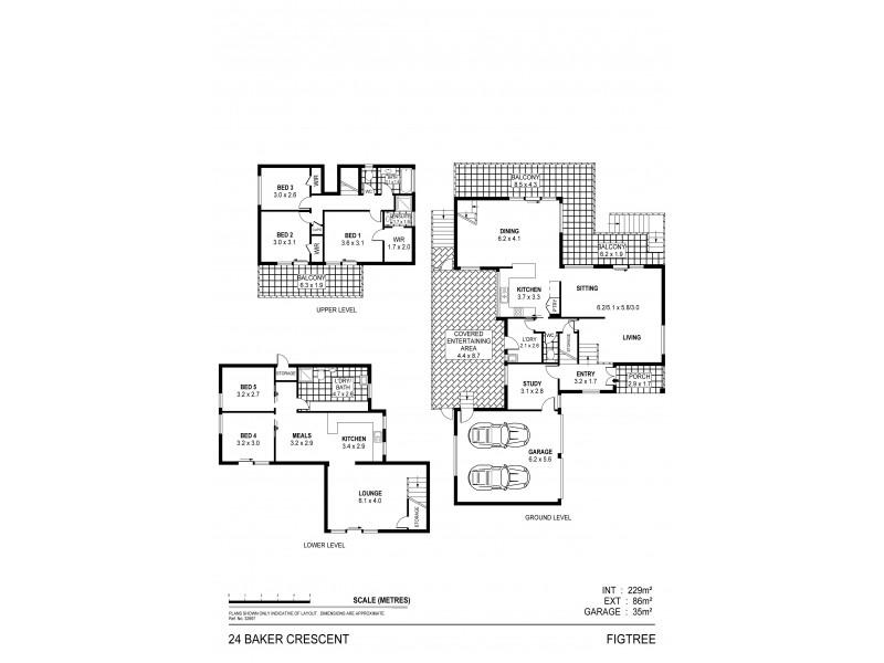 24 Baker Cres, Figtree NSW 2525 Floorplan