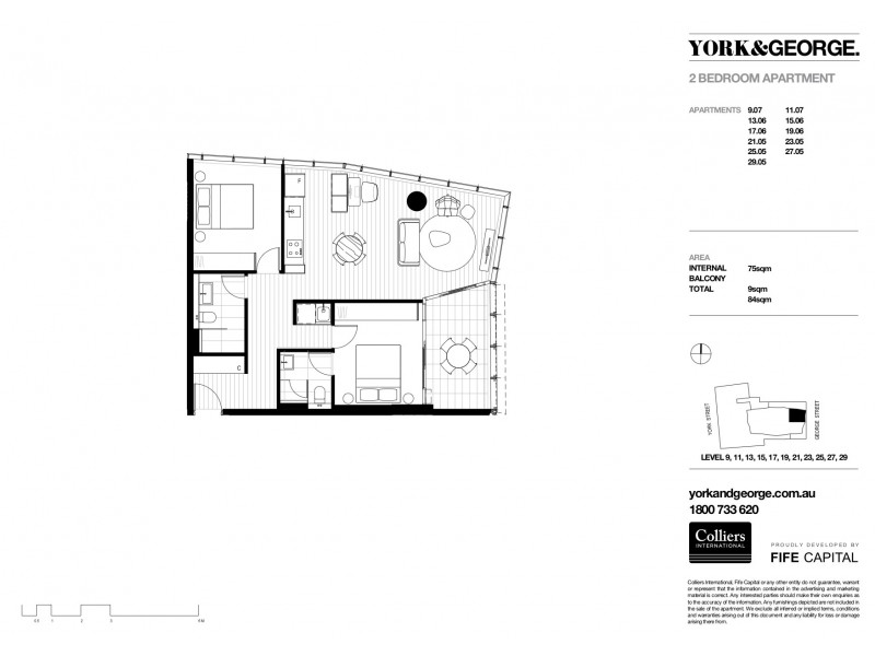 2905/38 York Street, Sydney NSW 2000 Floorplan