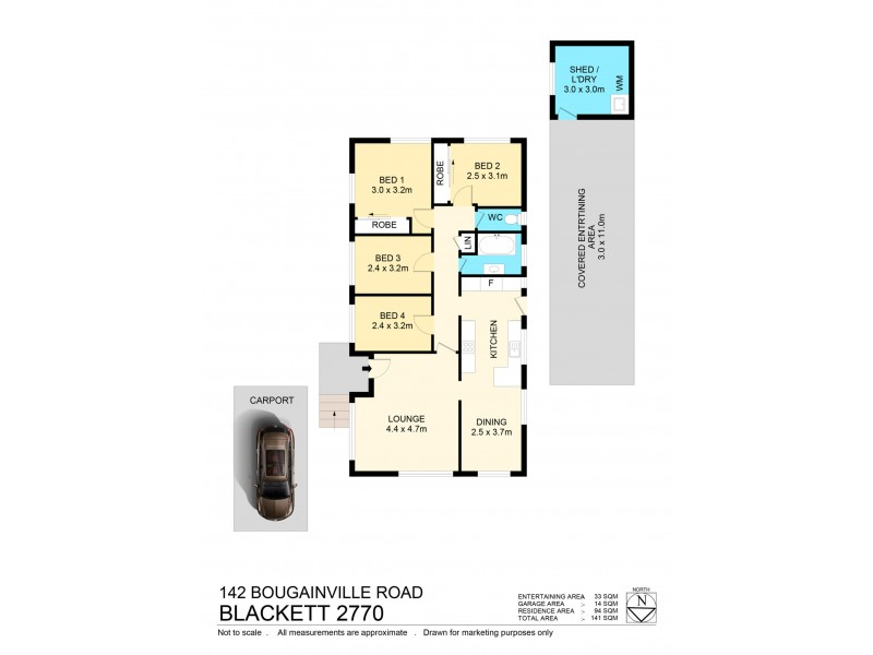 142 Bougainville road, Blackett NSW 2770 Floorplan
