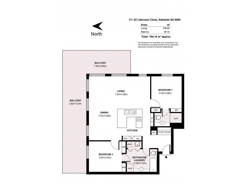 13/22 Liberman Close, Adelaide SA 5000 Floorplan