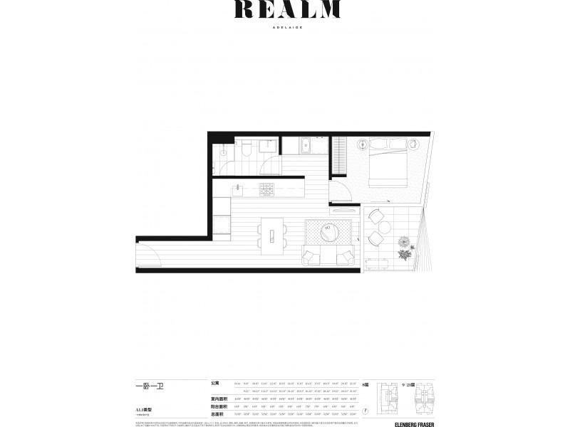 803/15 Austin Street, Adelaide SA 5000 Floorplan