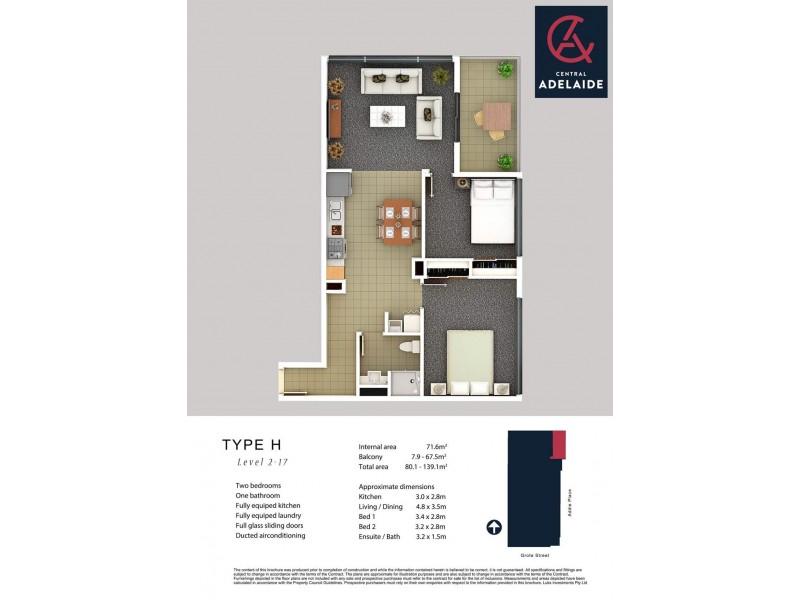 217/152-160 Grote Street, Adelaide SA 5000 Floorplan