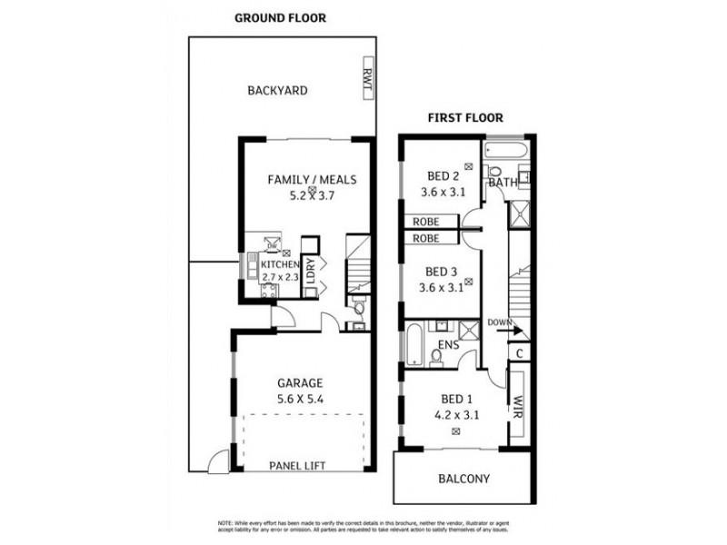 34 Woodley Avenue, Newton SA 5074 Floorplan