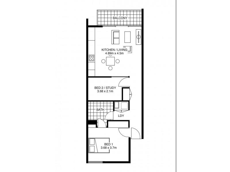 503/242 Flinders Street, Adelaide SA 5000 Floorplan