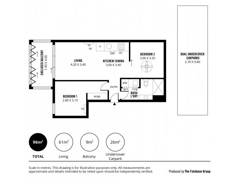 307/10 Balfours Way, Adelaide SA 5000 Floorplan