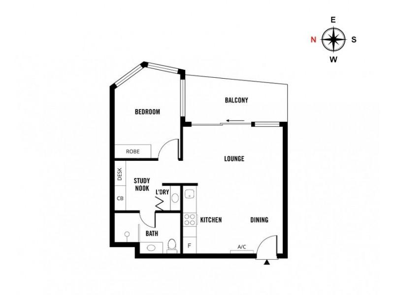 1303/421 King William Street, Adelaide SA 5000 Floorplan