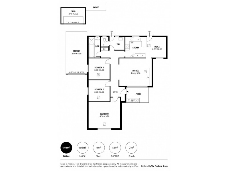 2 Donald Street, Campbelltown SA 5074 Floorplan