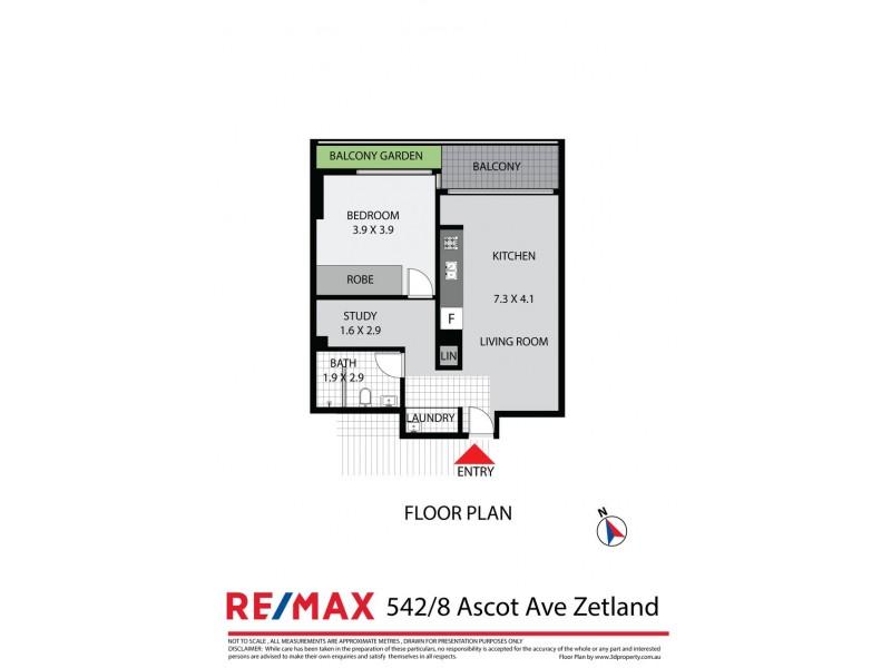 542 / 8 Ascot Ave, Zetland NSW 2017 Floorplan
