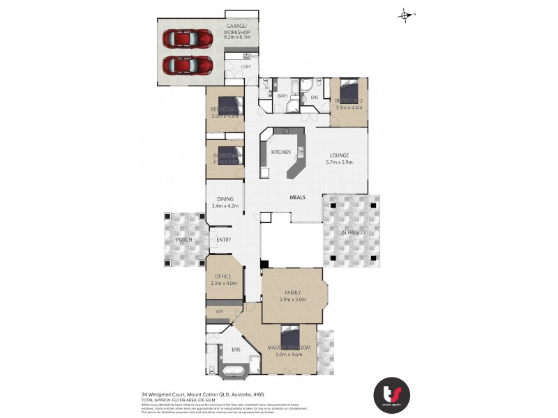 34-36 Wedgetail Court, Mount Cotton QLD 4165 Floorplan